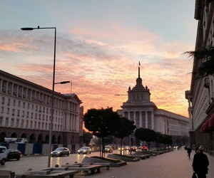 bulgaria, sofia, and sunset image