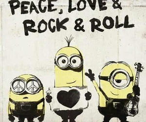 minions, peace, and love image