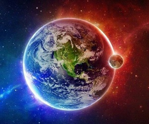 world, colors, and earth image