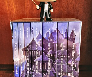 books, hp, and funko pop image