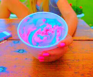 ice cream, pink, and summer image