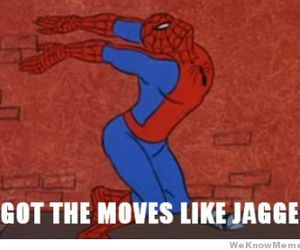 spiderman, funny, and jagger image