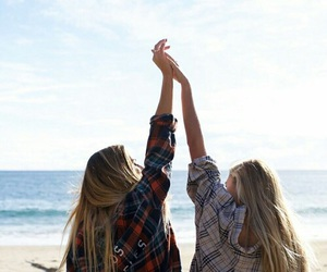 beach and best friends image