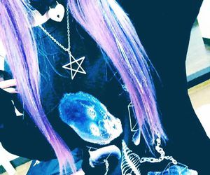 clothes, purple hair, and clothing image