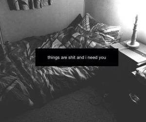 sad, shit, and black and white image