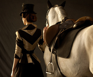hat, victorian, and horse image