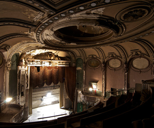 abandoned, theater, and theatre image