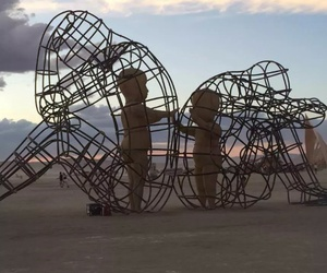 art, broken, and couples image