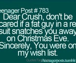 crush, christmas, and santa image