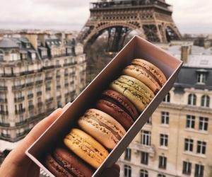 paris, food, and macarons image