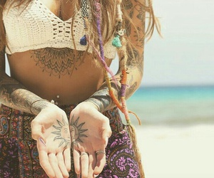 hippie tatto image