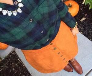 fall, skirt, and orange image