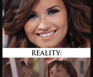 demi, funny, and smile image