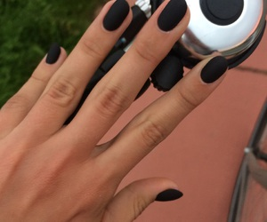black, mat, and nails image