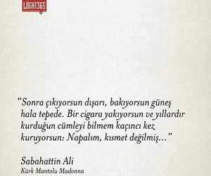 turkce, kürk mantolu madonna, and sabahattin ali image