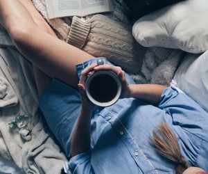 cozy, girl, and morning image