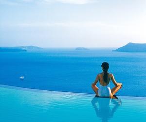 Greece, holiday, and santorini image