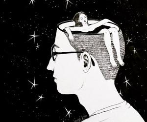art, stars, and boy image
