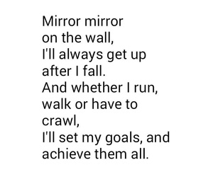 quote, goals, and mirror image