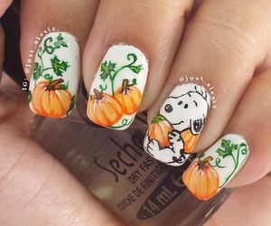 nails, snoopy, and fall image