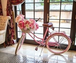 bicycle, bike, and flowers image