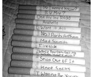 arctic monkeys, cigarette, and music image