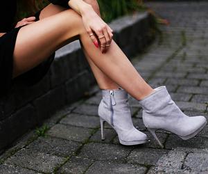 ankle, boots, and gray image