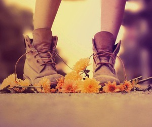 flowers, shoes, and boots image