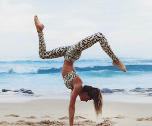 beach, fitness, and yoga image