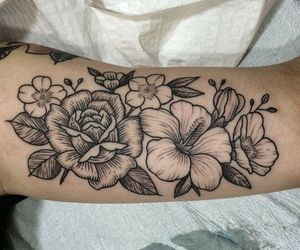 arm, body modification, and daisy image