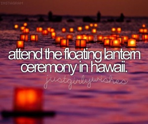 bucket list, hawaii, and lantern image