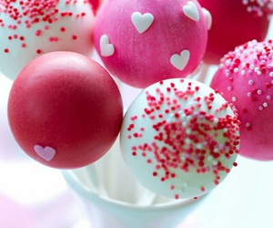 food, pink, and cakepops image