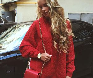 red, fashion, and moda image
