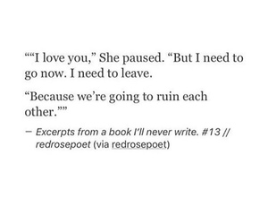 broken, couple, and quote image