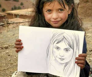 child, drawing, and cute image