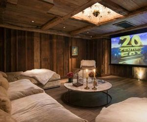 home, cinema, and luxury image