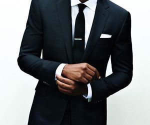 suit, man, and black image