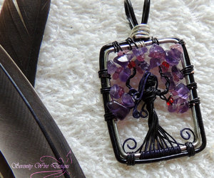 amethyst, fallen angel, and tree of life image