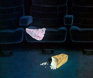 cinema, popcorn, and movie image