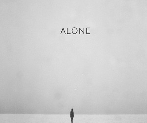 alone, black and white, and boy image
