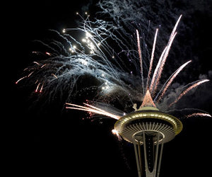 fireworks, new year, and new years image