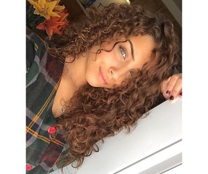girl, beauty, and curly image
