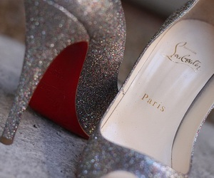 shoes, louboutin, and glitter image