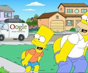 funny, google, and simpsons image
