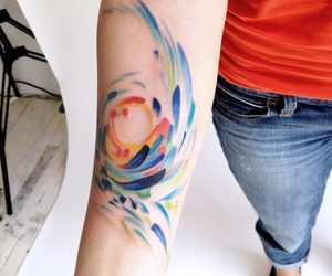 color, art, and tattoo image