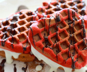 waffles, chocolate, and heart image