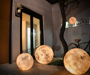 moon, lamp, and lantern image