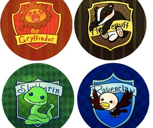 harry potter, slytherin, and gryffindor image