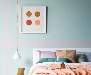 bedroom, pastel, and interior design image