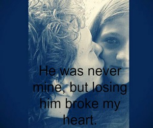 boy and girl, broken, and broken heart image